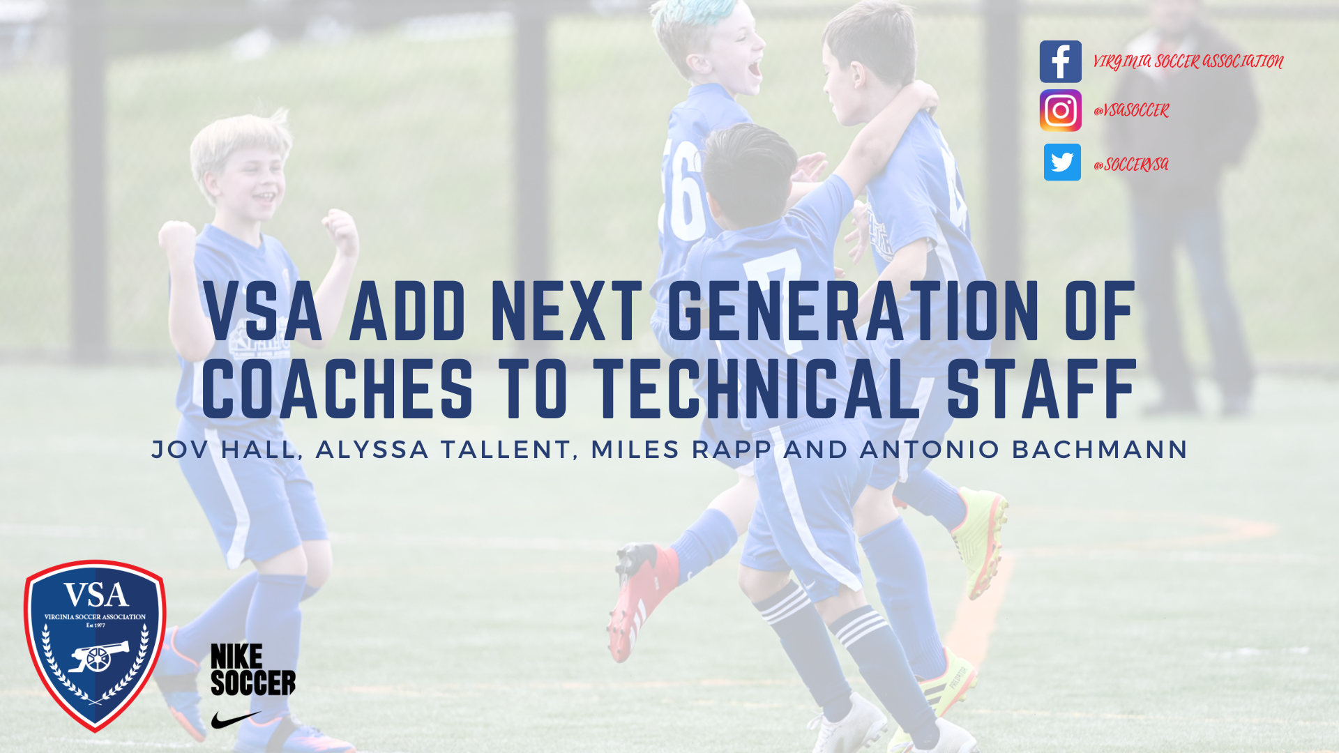 VSA Adds Next Generation of Coaches to Technical Staff
