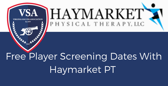VSA and Haymarket Physical Therapy Announce Free Player Screening Dates