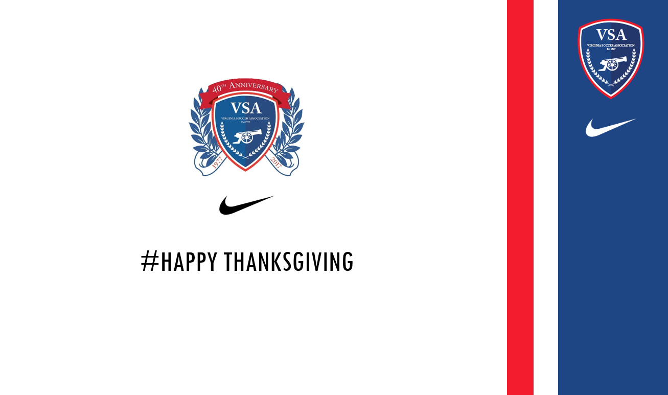 Happy Thanksgiving from Virginia Soccer Association